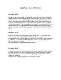 Olimpiada matematica 41 - Ejercicios - Primaria