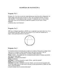 Olimpiada matematica 42 - Ejercicios - Primaria
