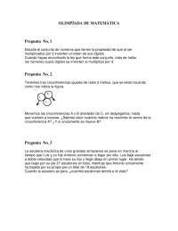 Olimpiada matematica 42 - Ejercicios - Bachillerato