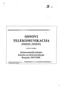 Telekomunikacije-Slajdovi-Elektrotehnicki fakultet 1.deo