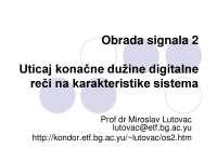 Slajdovi-Obrada signala 2-Elektrotehnicki fakultet ot3os2_3_kvantizacija