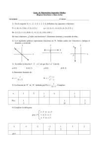 Funciones y la recta - Geometria analitica - Ejercicios - Grado Medio