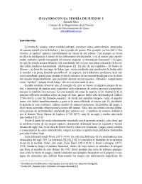 Teoria de juegos - Matematica recreativa - Apuntes