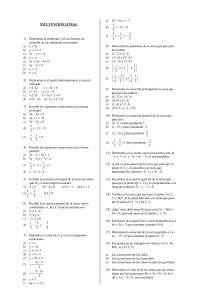 Funcion lineal - Geometria analitica - Ejercicios - Grado Medio