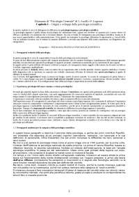 Riassunto esame di Psicologia Generale (Prof. Pessa consiglia testo Anolli-Legrenzi)