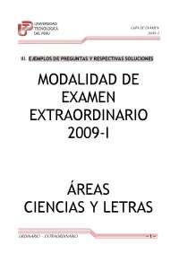 Prueba de examen - Ejercicios -  Universidad Peru - 2009 - Parte 1