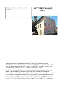 "Tesina su ""Tuttomondo"" di Keith Haring a Pisa"