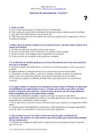 Derecho Penal II - Examen - Ejercicio de Autoevaluación Lección 3 - Universidad de Navarra