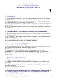 Examen de Derecho Penal II - Examen - Ejercicio de Autoevaluación Lección 10 - Universidad de Navarra