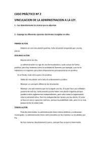 Derecho Administrativo I - Examen - Caso Práctico 2 - Universidad de Santiago de Compostela