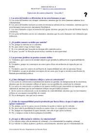 Derecho Penal II - Examen - Ejercicio de Autoevaluación Lección 1 - Universidad de Navarra