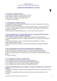 Derecho Penal II - Examen - Ejercicio de Autoevaluación Lección 2 - Universidad de Navarra