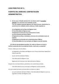 Derecho Administrativo I - Examen - Caso Práctico 3 - Universidad de Santiago de Compostela