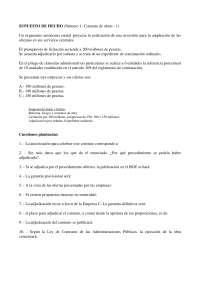 Derecho Administrativo - Examen - Caso Práctico I - Universidad de Valencia
