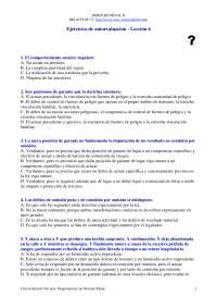 Examen de Derecho Penal II - Examen - Ejercicio de Autoevaluación Lección 6 - Universidad de Navarra