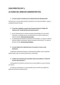 Derecho Administrativo I - Examen - Caso Práctico 1 - Universidad de Santiago de Compostela