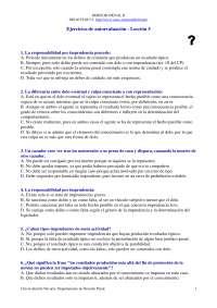 Derecho Penal II - Examen - Ejercicio de Autoevaluación Lección 5 - Universidad de Navarra
