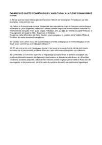 EXEMPLES DE SUJETS (extrait)