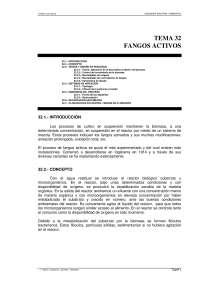 Fangos activos - Ingenieria sanitaria y ambiental - Apuntes - Tema 32