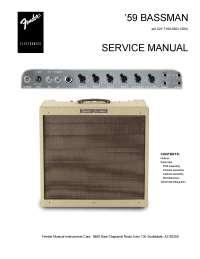 1959 Bassman - Users Manual