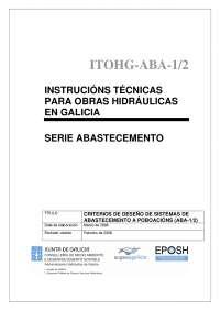 Criterios de diseño de sistemas de abastecimiento a poblaciones - Hidráulica e hidrología 1 - Apuntes