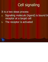 The Cell Signaling I-Biotechnology-Lecture Slides