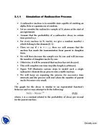 Simulation of Radioactive Processes-Modeling and Simulation-Handouts