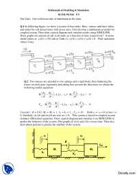 Patch Diagrams and Differential Models-Mathematical Modeling and Simulation-Homework