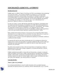 Sociología - Teoría Sociológica II - Summary