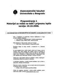 Programiranje 1-Vezbe-Elektrotehnicki fakultet materijal za pripremu vezbi i ispita 1