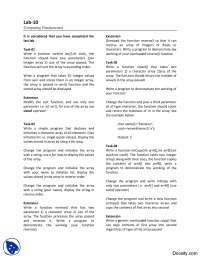 Functions-Computer Fundamentals-Lab Manuals