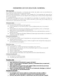 Sociología General  - Exam-Universidad de Valldolid