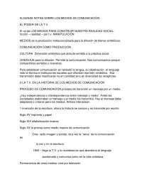 Algunas notas sobre los medios de comunicación - Sociología de las organizaciones - Study Notes - Universidad de Valencia