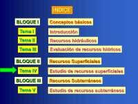 Recursos superficiales - Recursos y planificacion hidraulica - Apuntes