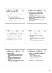 Sociología de la comunidad - Teoría Sociológica I - Slides -Universidad de Vigo