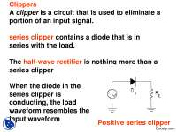 Diode Clipper and Clamper-Basic Electrical Engineering-Lecture Slides