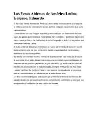 Las Venas Abiertas de América Latina - Movimientos Sociales- Summary