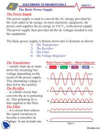 Basic Power Supply-Basic Electrical Engineering-Handouts