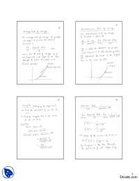 Rate of Change, Tangent-Calculus-Lecture Notes