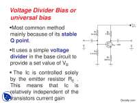 Baising Techniques-Basic Electrical Engineering-Lecture Slides