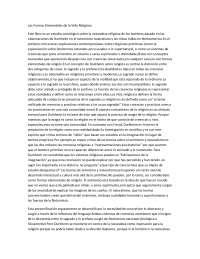 Las Formas Elementales de la Vida Religiosa-Teoría Sociológica-Summary