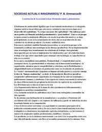 Sociedad actual e imaginarios - Epistemología de las Ciencias Sociales - Summary