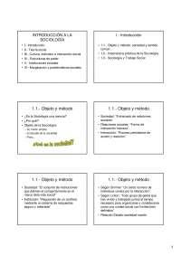 Introducción a la Sociología - Introducción a la Sociología - Slides - Universidad de Vigo