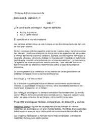 Sociología - Sociología Básica - Summary