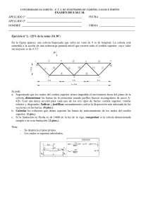 Exam de Estructuras metálicas y construccion mixta - Septiembre '02-'03 - Ejercicio 2 - Universidad A Coruña