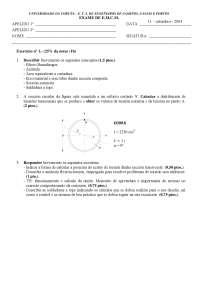 Exam de Estructuras metálicas y construccion mixta - Septiembre '03-'04 - Ejercicio 1 - Universidad A Coruña