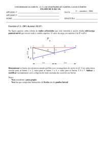 Exam de Estructuras metálicas y construccion mixta - Septiembre '03-'04 - Ejercicio 3 - Universidad A Coruña