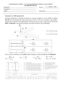 Exam de Estructuras metálicas y construccion mixta - Septiembre '05-'06 - Ejercicio 2 - Universidad A Coruña
