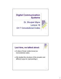 Convolutional Codes-Digital Communication Systems-Lecture Slides