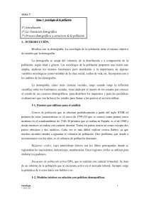 Sociologia y Poblacion - Apunte de Sociología demográfica - Universidad de Castilla